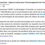 Le projet Innosuisse CANDY va développer et breveter un scanner  sans contact